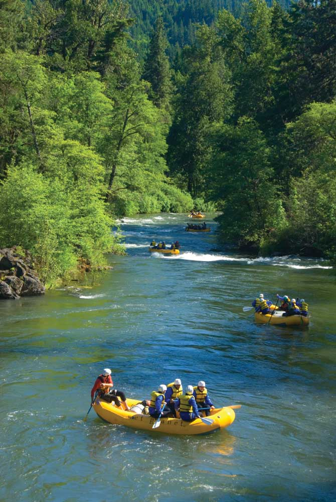 Rafting is a popular activity on the White Salmon Wild and Scenic River in Washington state's Klickitat County.
