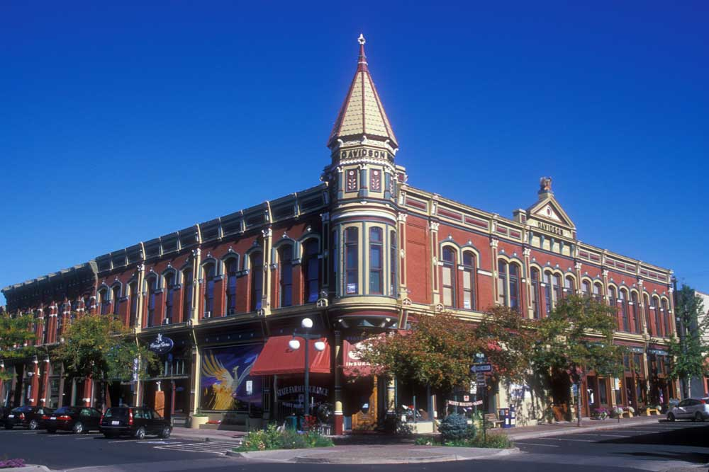 The 1890 Davidson Building in the town of Ellensburg.