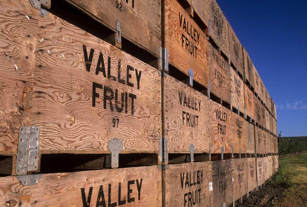 Apple crates, Grant County, Washington