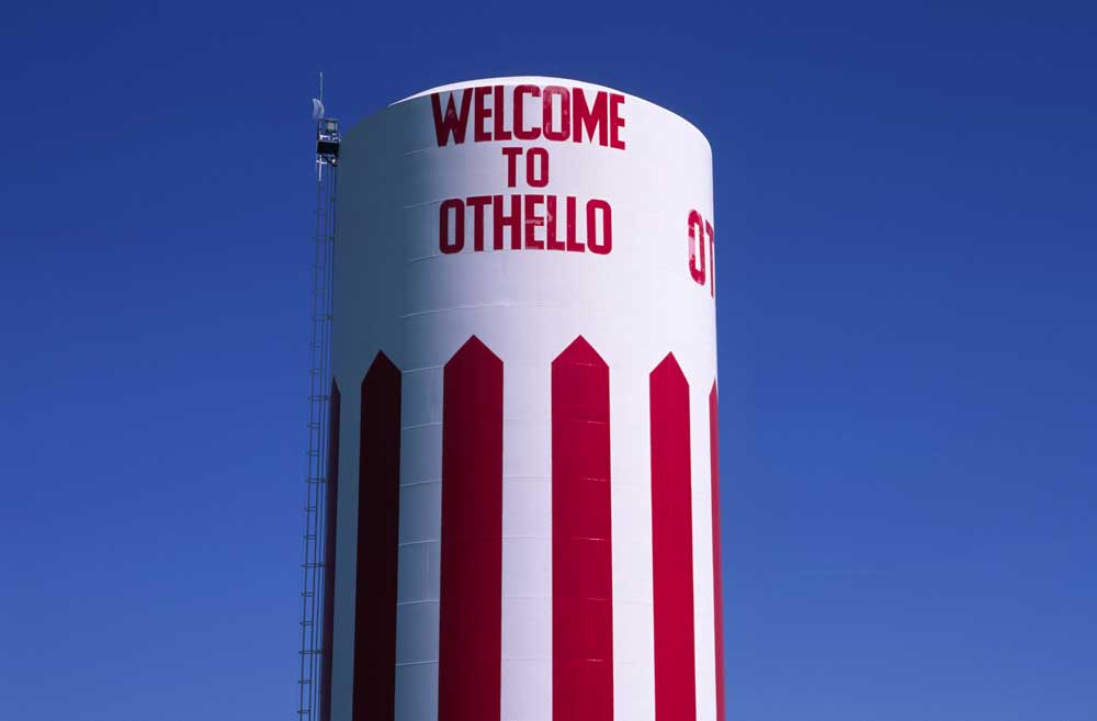 Water tank, Othello, Washington