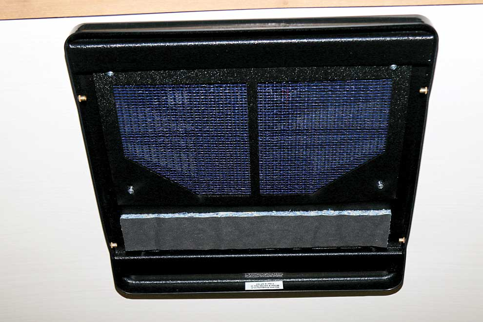 Phto shows he filter panel in place.