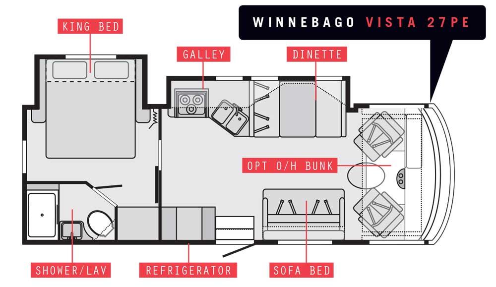 Winnebago Vista 27PE floorplan