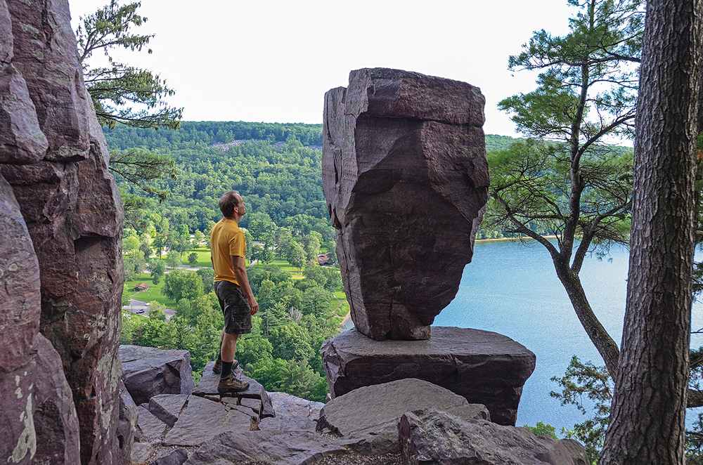 A question confronts every viewer of the famous Balanced Rock: How did it get there?