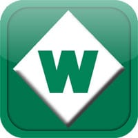 """Green and white Woodall's """"W"""" logo"""