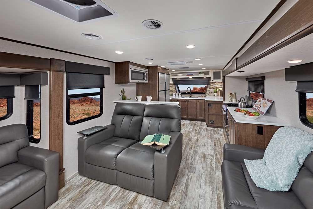 Forest River XLR Nitro 405 Toy Hauler interior
