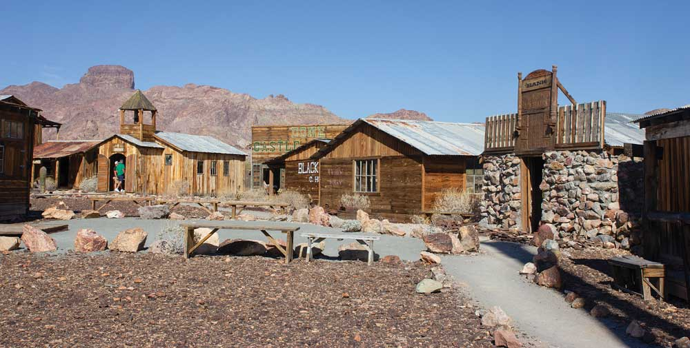 Castle Dome Mine Museum has more than 50 buildings in the ghost town filled with furniture, tools, clothing, dishes and bottles.