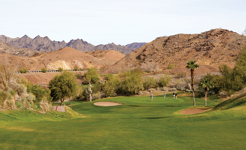 The Emerald Canyon Golf Course in Parker is an 18-hole championship course with greens and fairways in great condition.