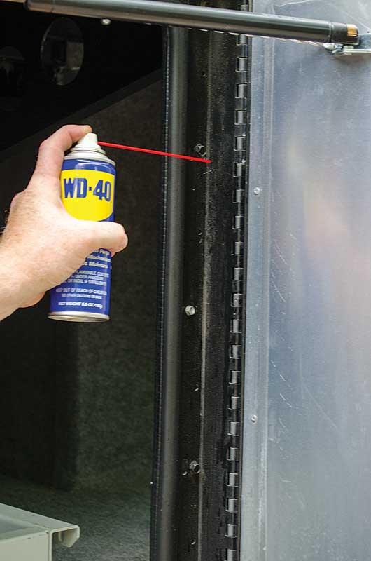 motorhome door hinge cleaning