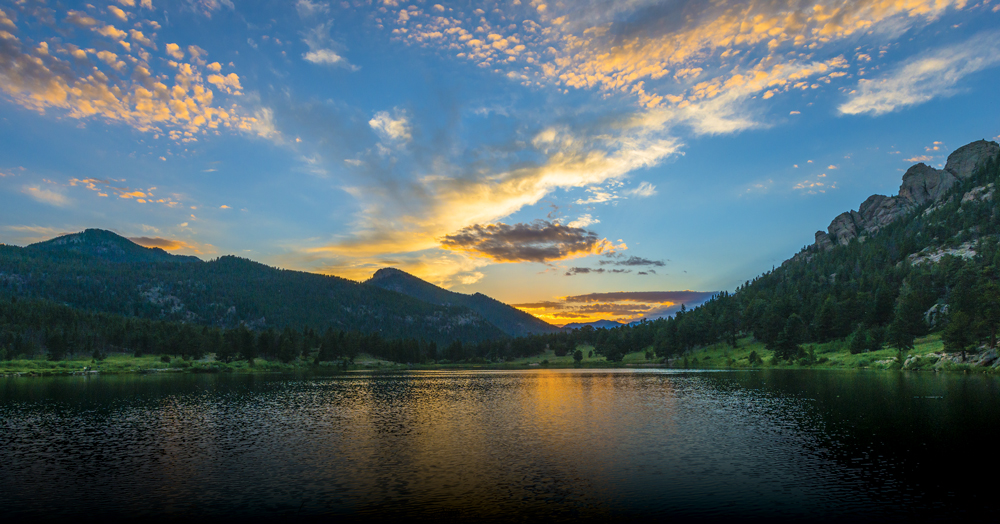 Six miles from Estes Park,  Lily Lake is one of many impressive scenes within Rocky Mountain National Park's 415 square miles.