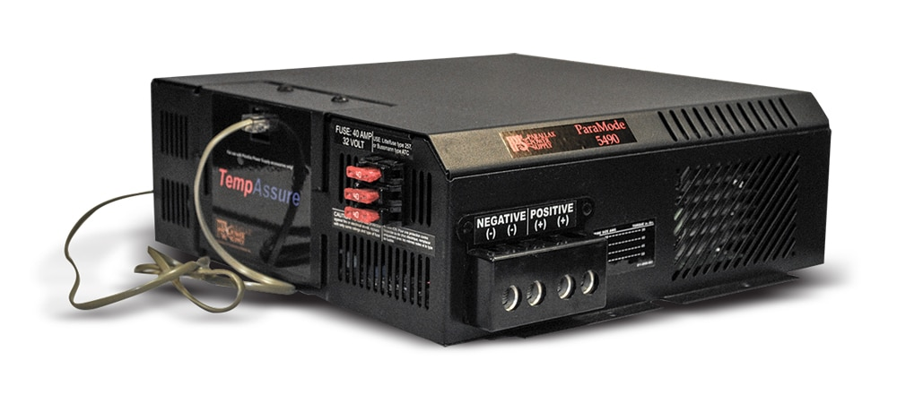 Parallax Power Supply's converter/charger utilizes a unique temperature- compensation feature designed to maximize output in extreme temperatures.