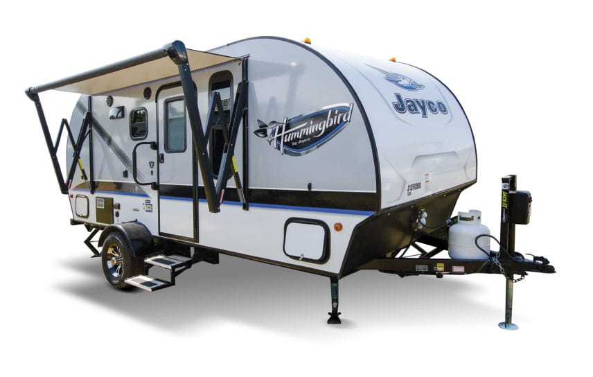 Jayco Hummingbird with awning out