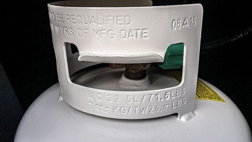 Cylinders must be replaced or recertified 12 years after the date of manufacture, marked as June 2015 on the collar of this cylinder.