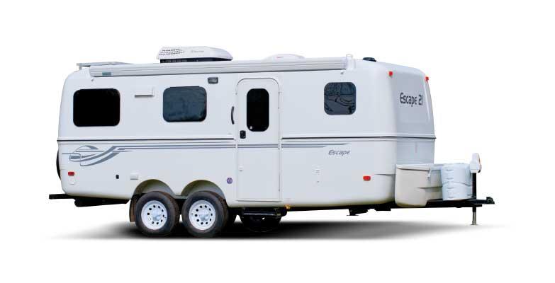 White 21-Foot Escape trailer