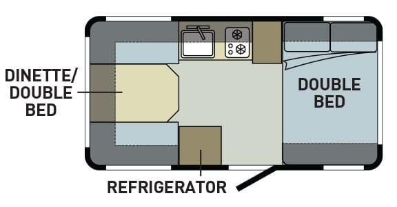 RV trailer layout