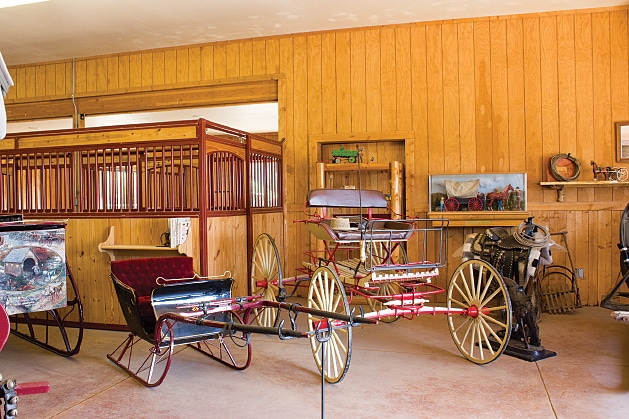 The resort's Carriage and Sleigh Museum has restored horse-drawn vehicles dating back to the late 1800s.