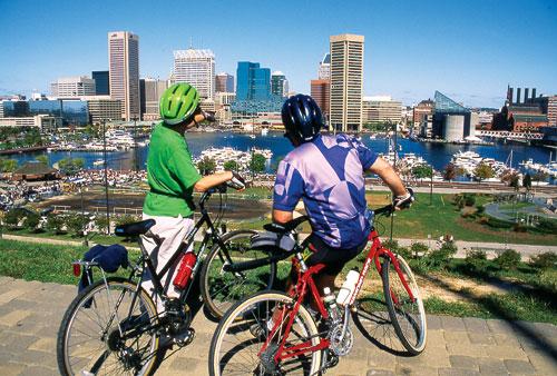 Biking in Baltimore