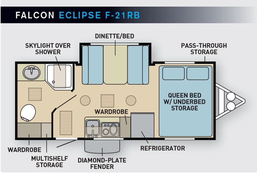 Falcon Eclipse F-21RB Floorplan