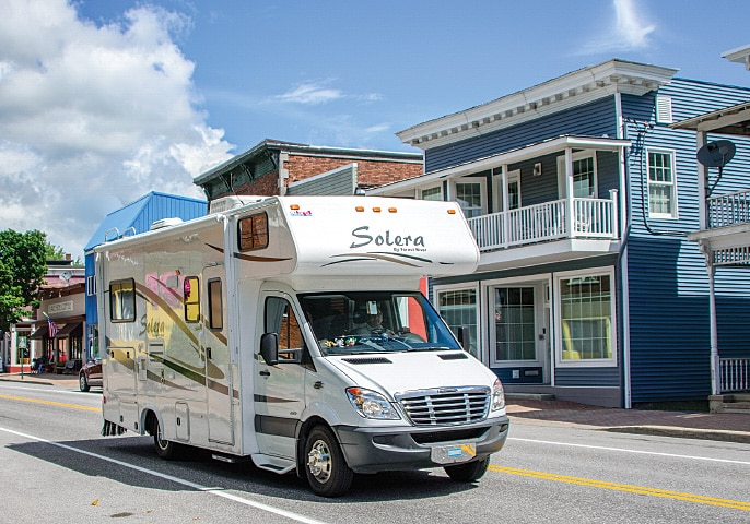 The towns and beaches of the area are fun to explore in an RV.