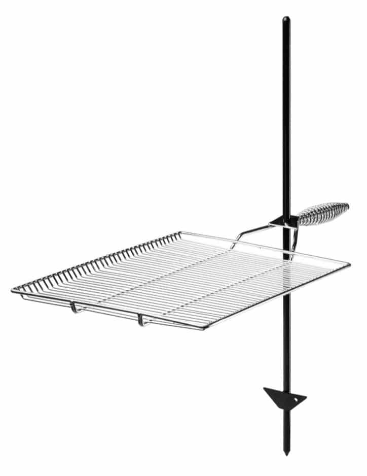 Chrome stake and grill