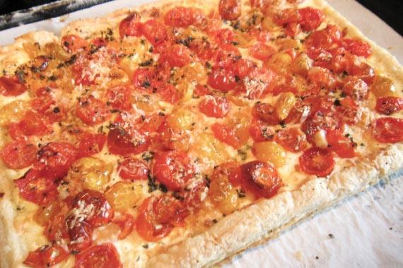 Fresh Tomato Feta Tart