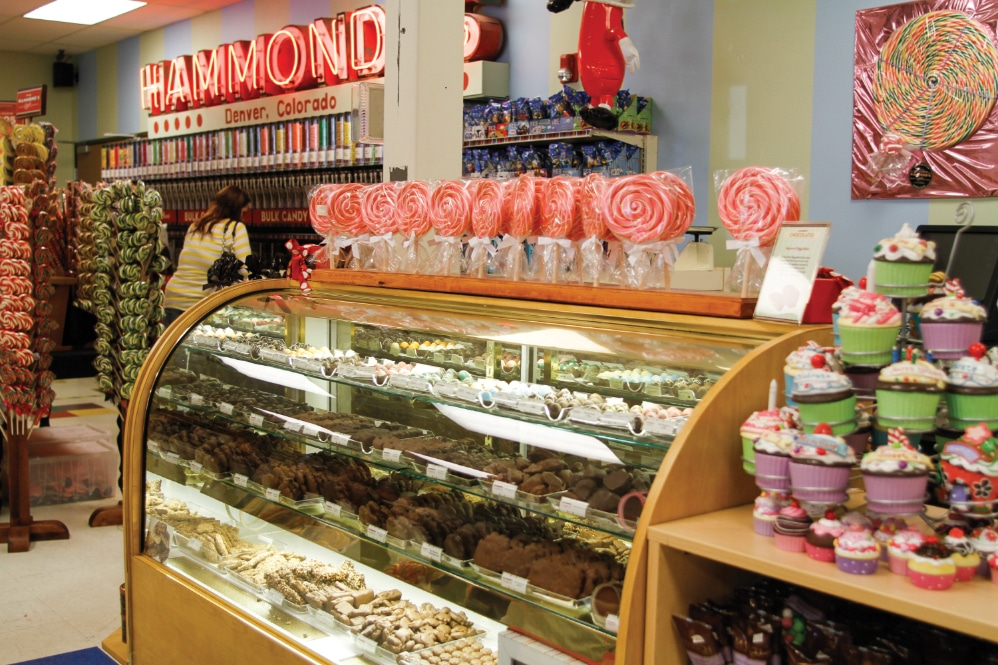 At the Hammond's factory retail store, visitors can buy all types of candies.