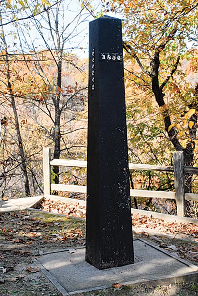This obelisk marks the state line between Kansas and Nebraska.