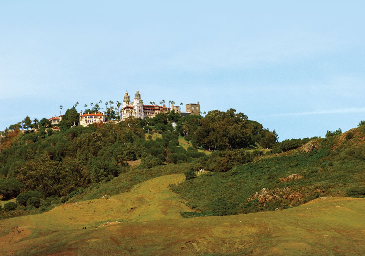 Hearst Castle Viewed From Highway 1 in Central California