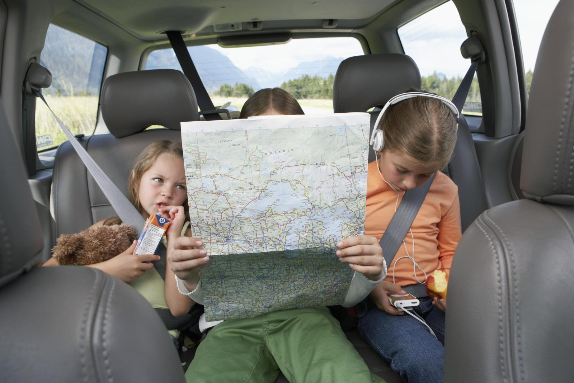 Kids looking at a map
