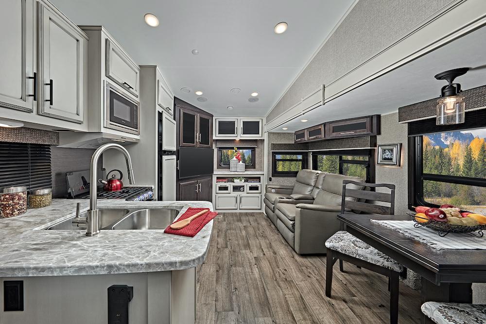 aJayco 2021 Eagle HT FW 24RE interior living room