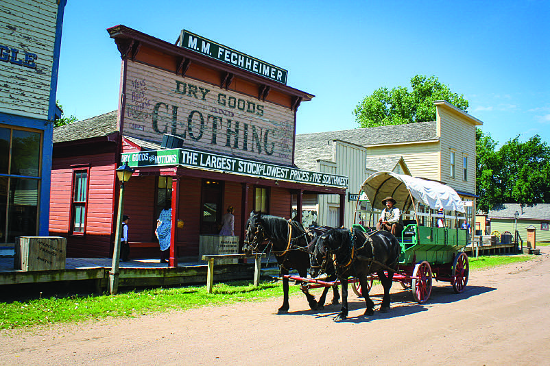 Covered-wagon rides are a fun way to spend an afternoon at Wichita's Old Cowtown Museum, a living-history experience.