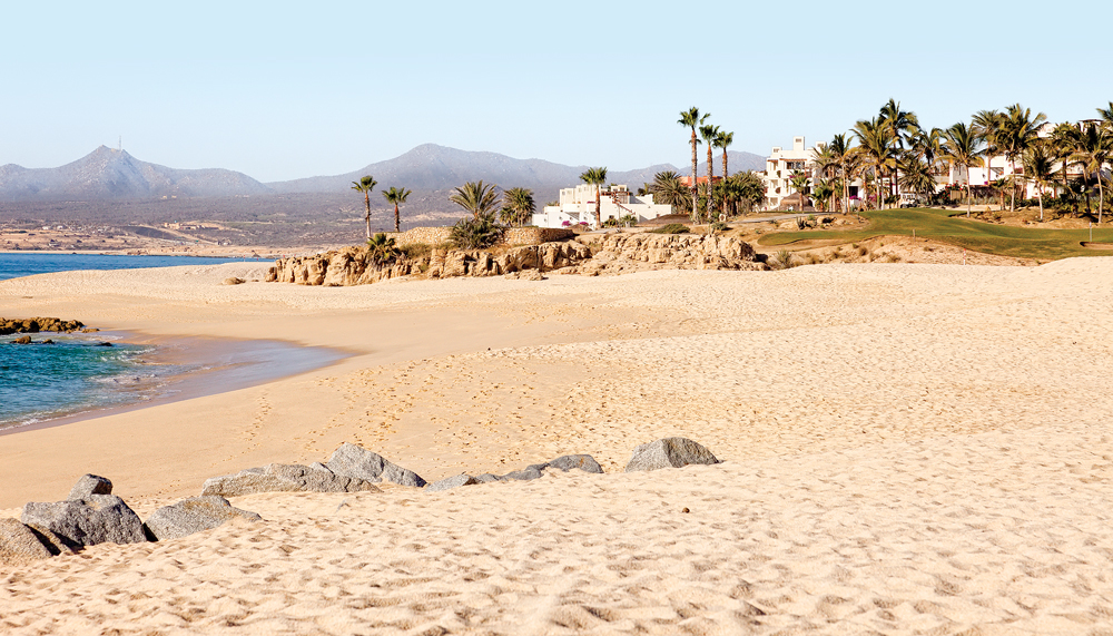 A former fishing village on the southern tip of the Baja Peninsula, Cabo San Lucas is now a famous beach destination for celebrities, spring breakers and RVers.