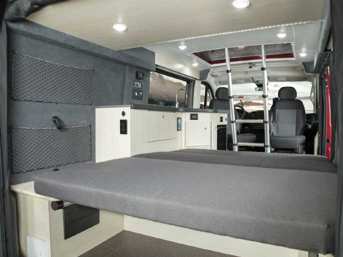 Pleasure-Way Tofino Camper Van Class B motorhome Interior
