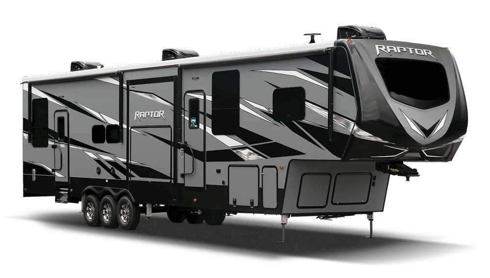 Keystone Raptor Fifth Wheel toy hauler Exterior