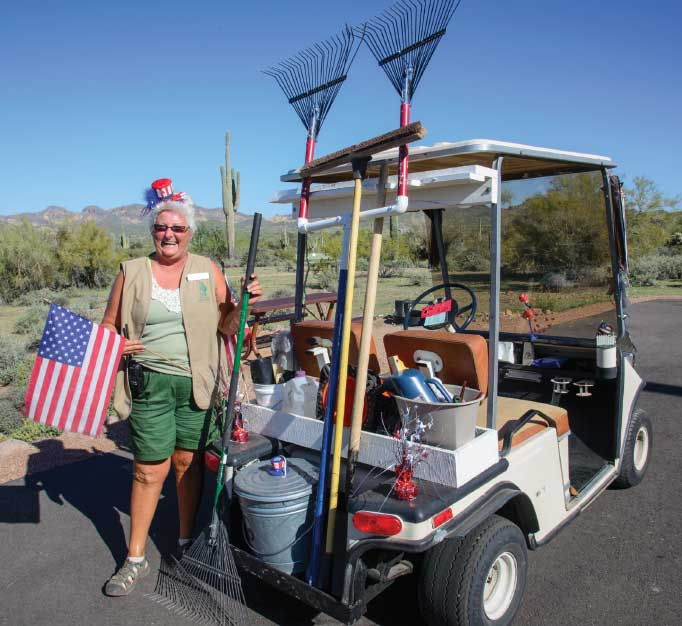 In exchange for various duties, seasonal campground hosts get a campsite free of charge.