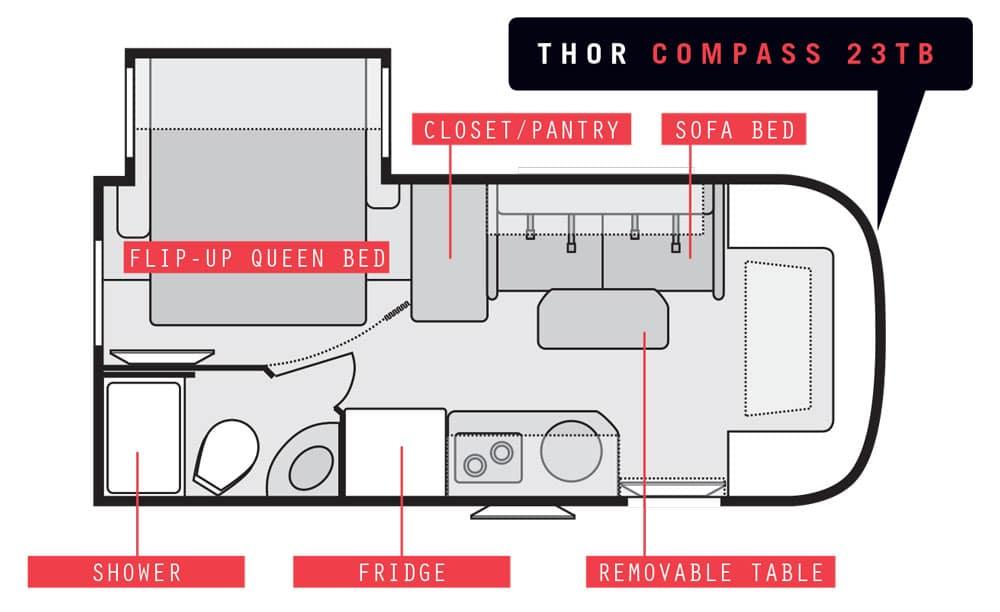 Thor Compass 23TB floorplan