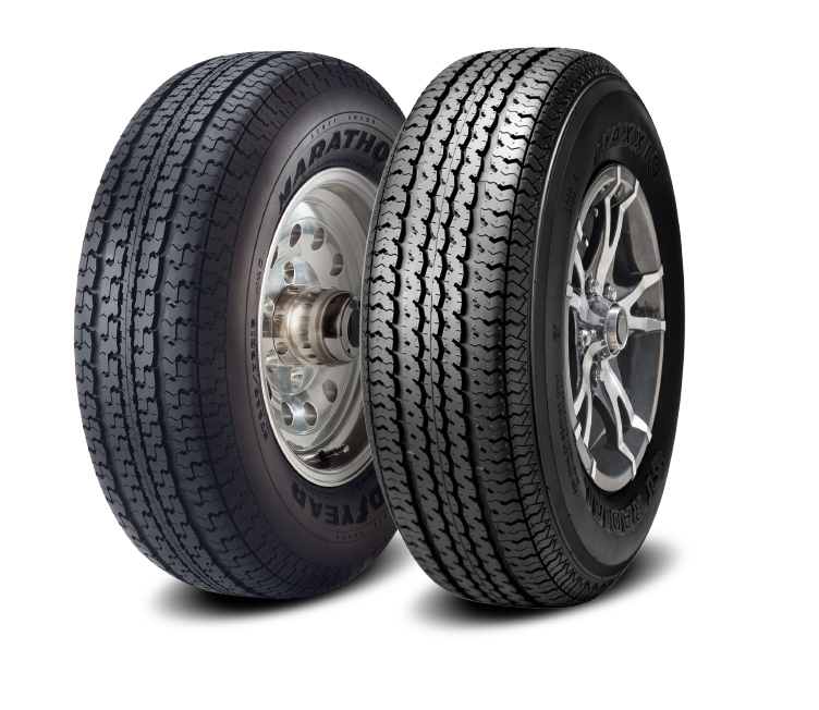 Two special trailer tires