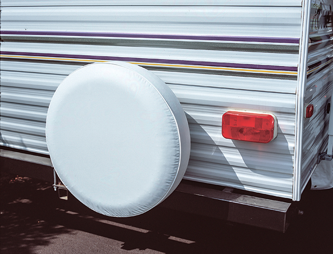 Spare-tire covers can help extend the useful life of the rubber by keeping the sunlight off.