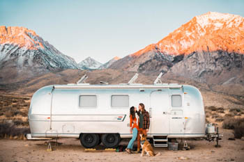 Gabi and Brandon Fox of The Foxes Photography with their 72 Airstream