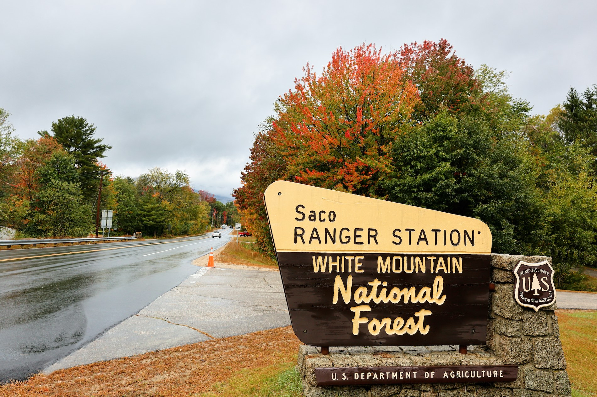 a ranger station along the Kancamagus Scenic Byway in New Hampshire