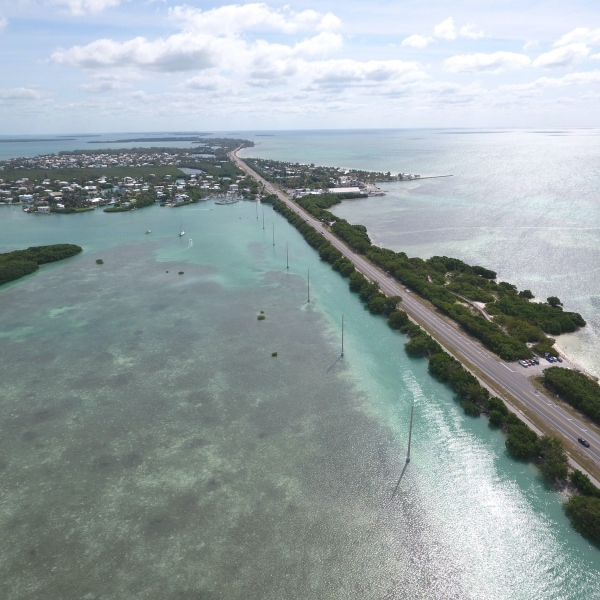 the Overseas Highway leading out from Miami to the Florida Keys