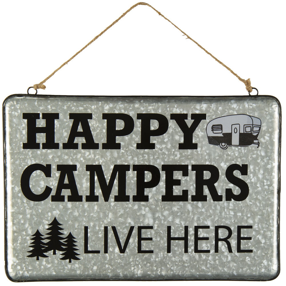 Happy Campers Live Here Sign.