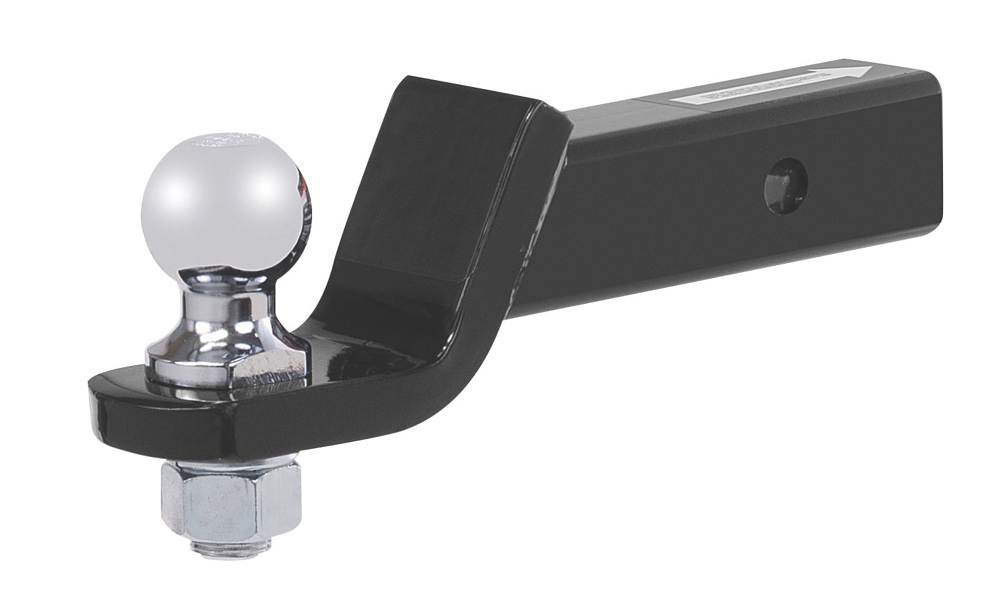 A typical ball hitch for a trailer