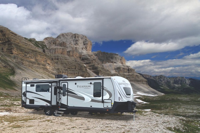 outdoors rv black stone travel trailer