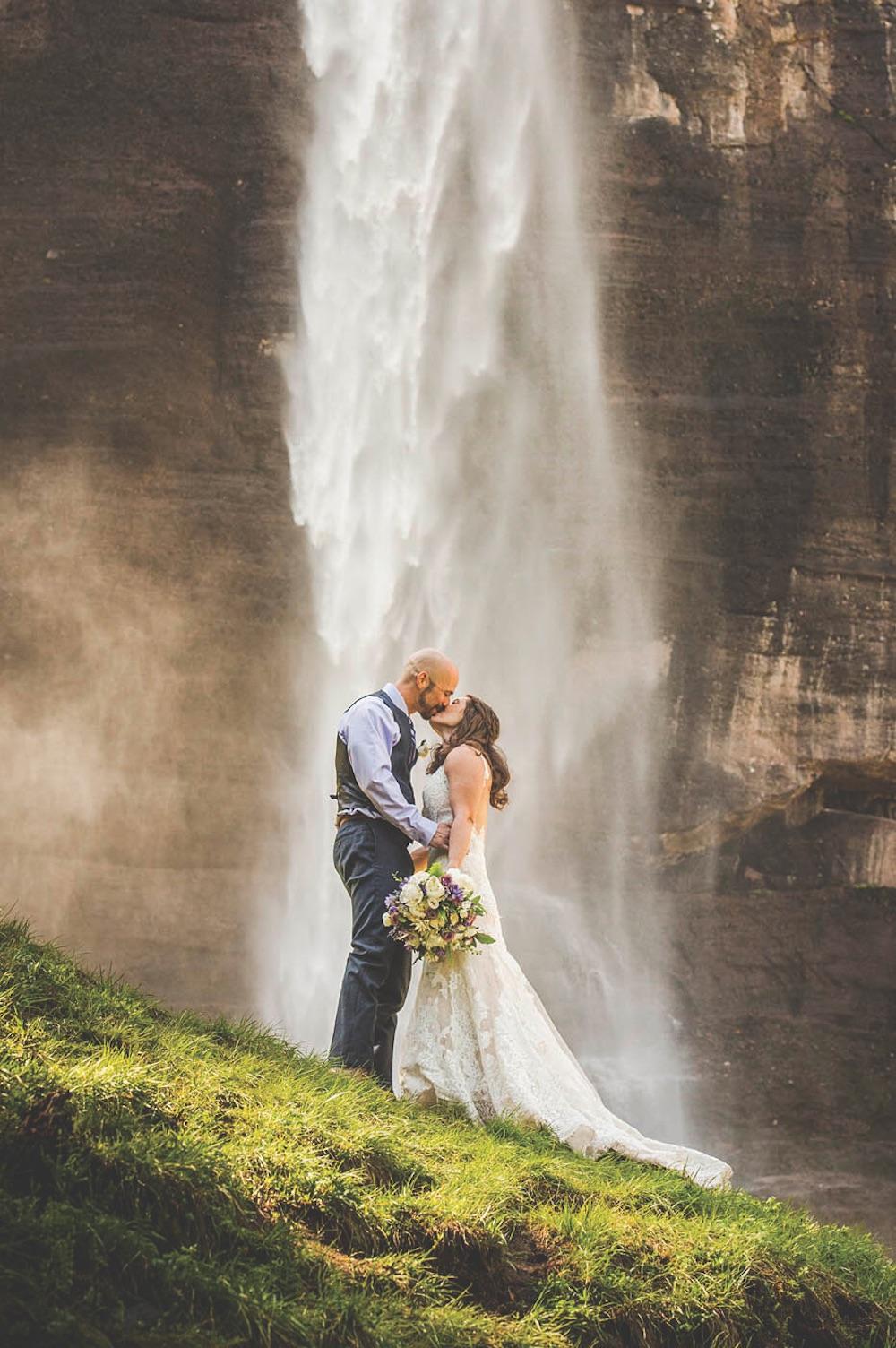 photo credit elope telluride, waterfall in telluride