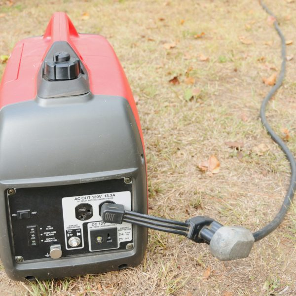 portable generator used while camping