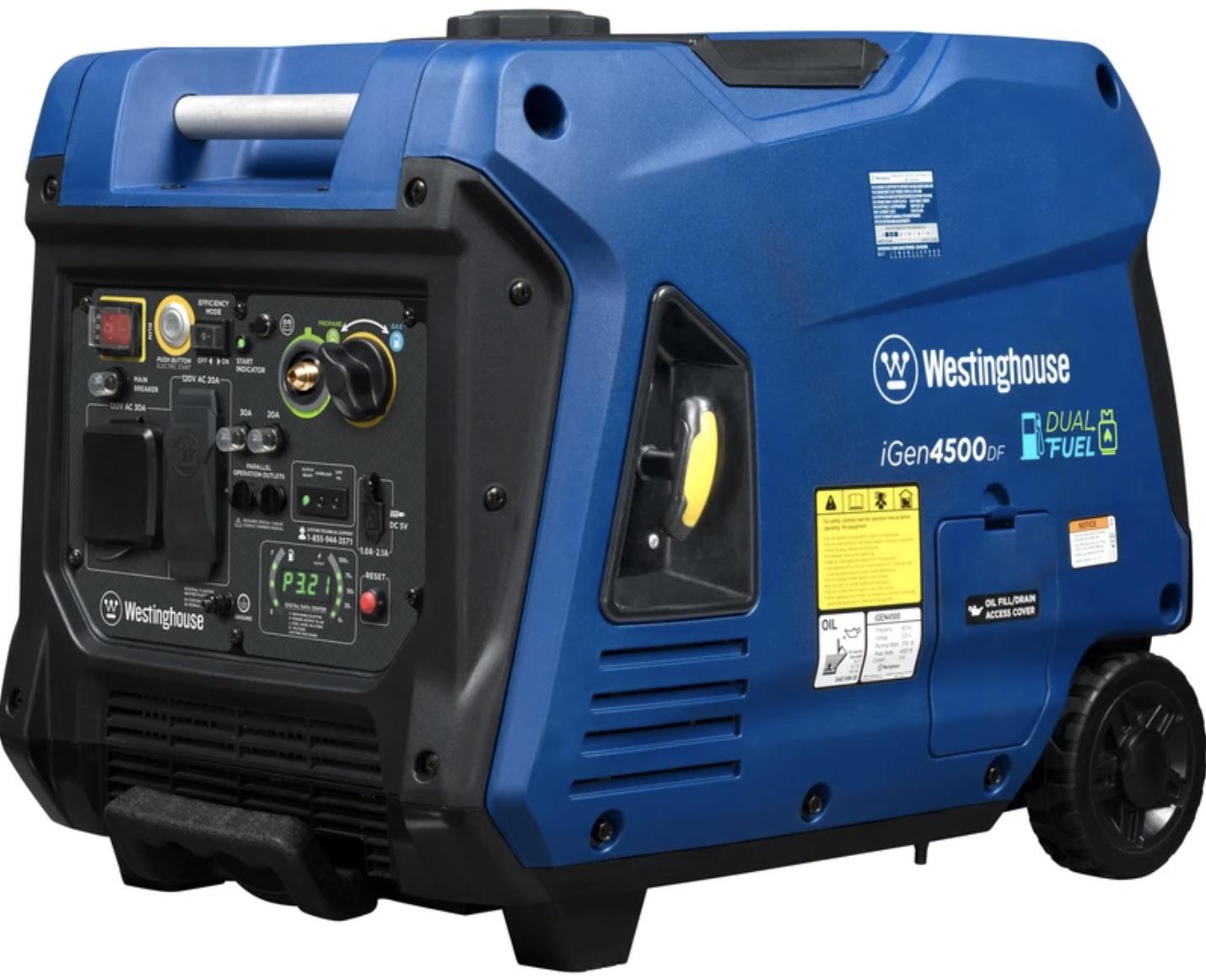 Westinghouse iGen4500DF portable generator