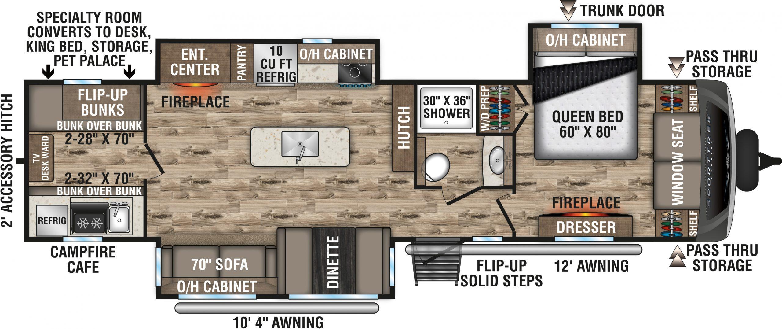 2021 SportTrek Touring Floorplan