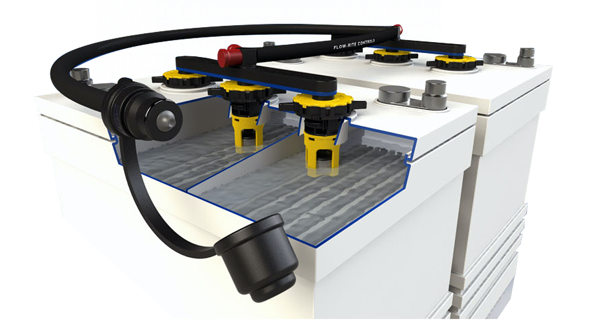 Flow-Rite's Pro-Fill Onboard Battery Watering System