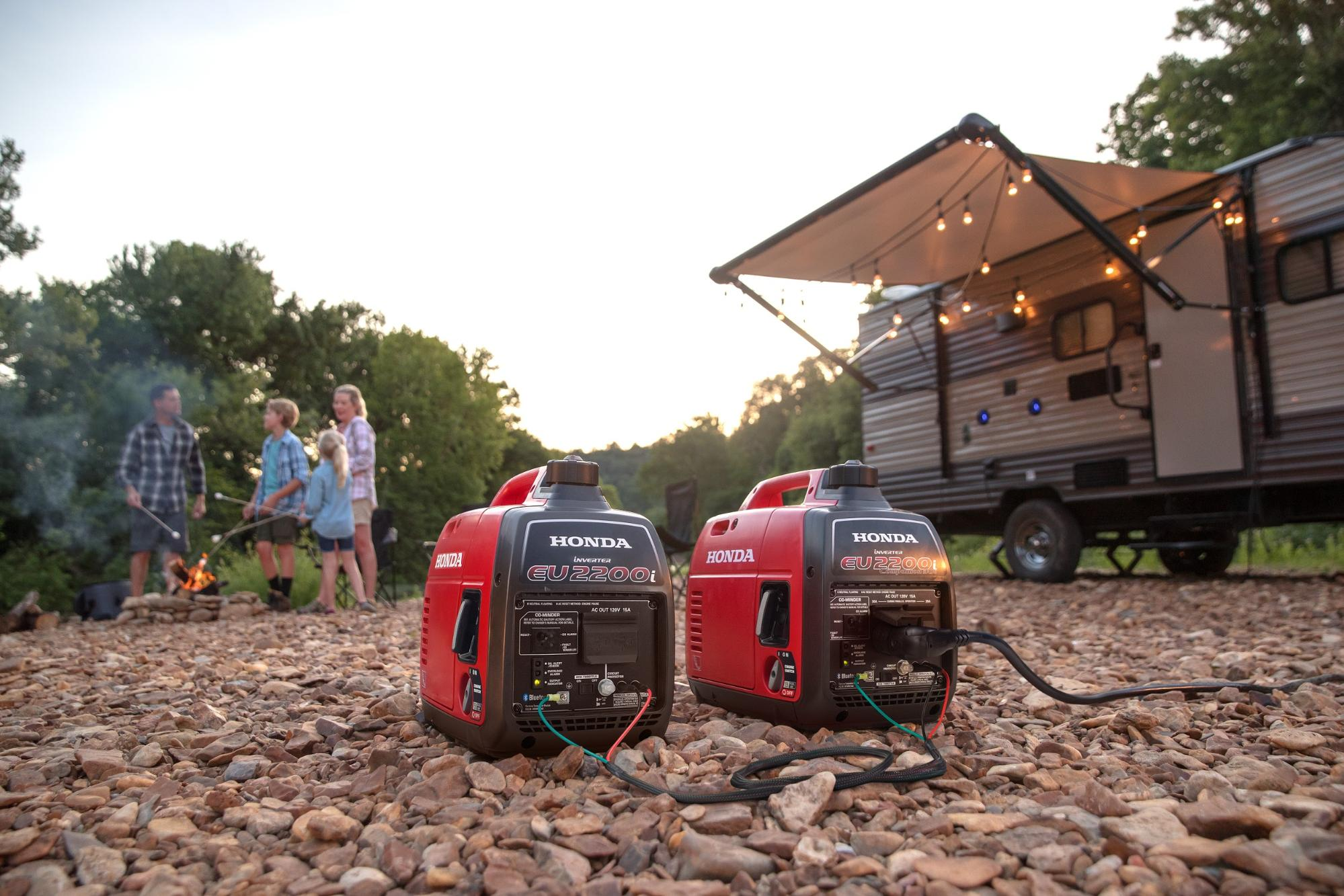 two honda generators