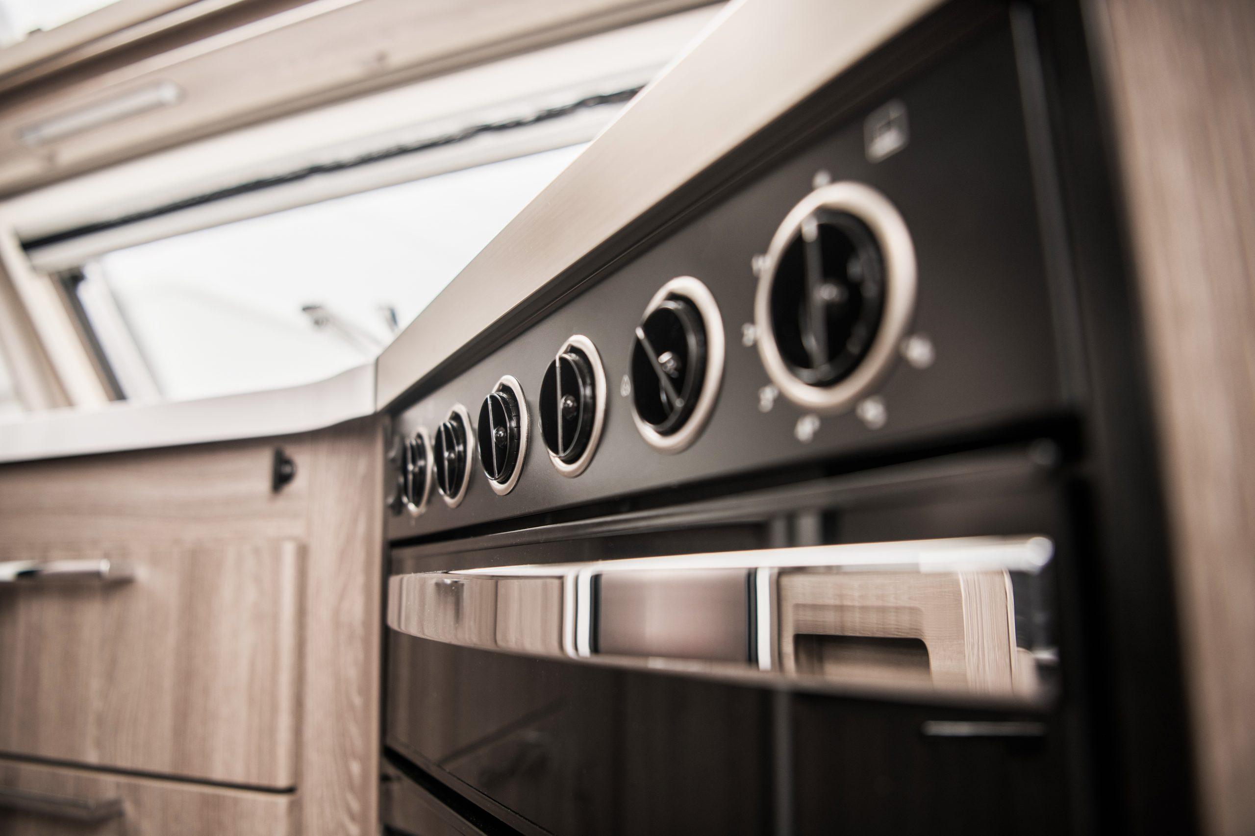 RV Kitchen Oven Closeup
